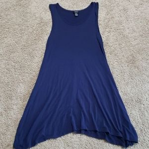 Navy blue tank top dress